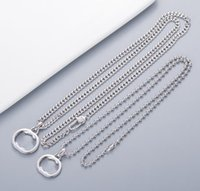 HOT SELL Fashion letter necklace mens and women Party Wedding Lovers gift engagement jewyelry for hip hop With BOX