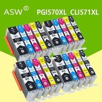 ASW Compatibile per la cartuccia di inchiostro Canon 570XL PGI570 stampante PGI570 CLI571 PGI570XL PIXMA MG5750 MG5751 MG5752 MG5753 MG6850