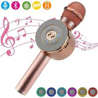 WS668 Micrófono inalámbrico Bluetooth Karaoke Micrófono Micrófono TF TARD / U DISCO Música Reproducción Grabar FM Radio Mic Speaker PK WS858