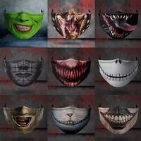 Máscara facial O pesadelo antes do Natal Máscara de Cosplay Horror Mulheres Partido Festa Halloween Masquerade Máscara à prova de poeira Hwe2935