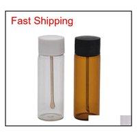 أحدث زجاجة السعوط الملونة المريح علبة حبة تخزين مسحوق متجر ملعقة المحمولة متعددة الاستخدامات عالية الجودة Qylhfn Sports2010