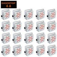İndirim Fiyatı 20 Paketi 12X18W 6in1 RGBAW UV Kablosuz DMX512 Beyaz Pil Soket dışarı / içinde Gücü uplight Parti Led Par Işık Powered
