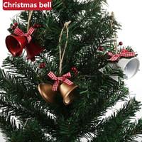 Рождество Jingle кованого железа Большой колокол украшения кулон Рождество Белл Подвеска Рождественские украшения Новогодняя вечеринка детей игрушки 300pcs T1I2652