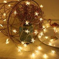 LED star light string funkeln girlanden batteriebetriebene lampe feiertag neues jahr weihnachtsdekorationen fünfzackige sternlampe