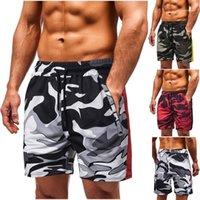 Брюки мужские 2020 роскоши дизайнерские короткие брюки летний камуфляж печать колена длина шорты случайные спортивные люди