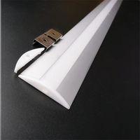5-30pcs 1m 12mm PWB Body LED Profilo di alluminio LED, 5 V 12V 24V Canale striscia, 52mm largo 10mm High Ceil Wall Bar Sharing Housing