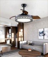 Невидимая простая спальня потолочный вентилятор светло-ресторан люстры птичьего гнезда оптом гостиная вентилятор Light1