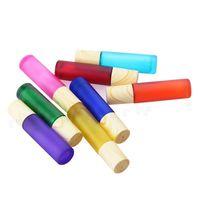 10ml Essential Roller Ball Ball Ball Fosco Colorido Colorido Cobertura de Grão Portátil Conveniência Gelada Grosso Recipiente Recarregável 463 K2