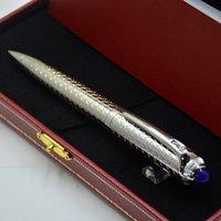 Regalo di compleanno di lusso di alta qualità di alta qualità argento griglia della griglia della penna della penna di cancelleria di cancelleria forniture per la scuola di ufficio scrittura le penne a sfera a sfera fluido