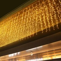 12 متر جليد سلسلة أضواء عيد الميلاد أضواء الجنية الديكور في الهواء الطلق تزيين 0.6 متر أدى ستارة السنة الجديدة حفل زفاف حفر