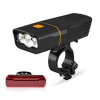 WasaFire 3 * T6 L2 велосипед свет USB аккумуляторная велосипед Передние Задние фары MTB Tail лампы головного света фар Велоспорт Фара Taillight