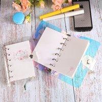 A6 Binder Cover Refilable Notebook Shell Rainbow Laser Binder Transparente Notebook Diary Cobertura Planejador Planejador Pasta Escola 19 L2