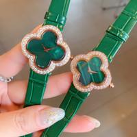Senhoras assistir moda luxo quartzo relógio melhor senhoras presente casual relógio vestido elegante relógios designer quatro folha trevo marca relógios presente