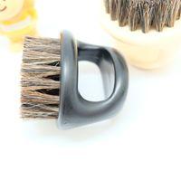 Plastic retro baard modellering borstel zwijn borstels heren snor vinger ring scheren draagbare gezichtsverzorging schone borstels hot koop 2 4MX G2