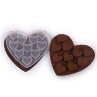 2021 a forma di cuore in silicone stampo al cioccolato in silicone morbido gel trasparente ghiaccio caramelle biscotto torta da forno modelli San Valentino festa decorazione regali GG11304