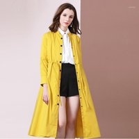 Bright Color Trench Coat Women Single- breasted Windbreaker L...
