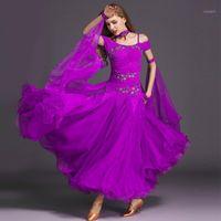 9 Farben Ballsaal Tanzwettbewerb Kleider Tanz Ballsaal Walzer Kleider Standard Kleid Standard Kleid Frau1