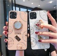 ساعة الماس مع حزام حامل واقية حالة الغطاء الخلفي للآيفون 12 برو ماكس iphone12 12Pro