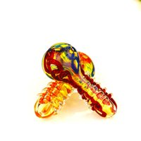 3.7 inches COLORFULL GLASS PIPE glass HANDFEEL glass smoking Pipes hand pipes NEW design spoon pipes
