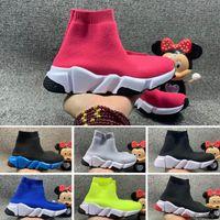 Balenciaga 2021 جديد أزياء أطفال أحذية الأطفال طفل أحذية رياضية أحذية طفل رضيع والفتيات الصوف محبوك أحذية الجوارب الرياضية 24-35