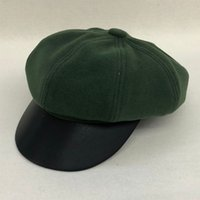 Berets lvtzj mulheres boina vintage espinhabone gatsby tweed peaky blinds chapéu sboy spring plana pico chapéus