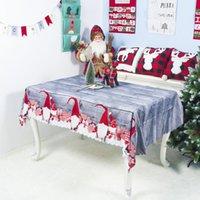 7 أنماط عيد الميلاد زينة عيد الميلاد الساخنة مفرش المائدة عيد الميلاد الكرتون البوليستر مفرش المائدة قابل للغسل 150 * 180CM حفلات عيد الميلاد مفرش المائدة