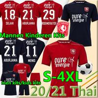 4xl FC Twente Jersey 2020 2021 Home Away Danilo Menig Cerny Selahi Julio Pleguezuelo Homens Adult Kits Kit Kit Futebol Shirts Uniformes