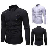 Новый стиль хлопчатобумажные белые мужчины свадебные / выпускные / ужин жених рубашки носить рубашку жених рубашки для женщин классические мужские платья рубашки