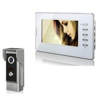 Telefones de porta de vídeo 7 polegadas telefone LCD monitor ABS Viewer Bell Intercomitame IR noite Vision Camera B1