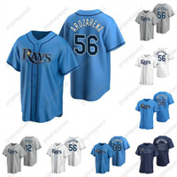 # 56 Randy Arozarena Baseball Jersey 4 Blake Snell 12 Wade Boggs 39 Kevin Kiermaier 남성 여성 청소년 맞춤형 야구 유니폼