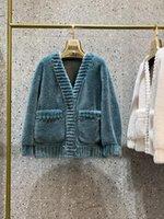 여성용 모피 가짜 고품질 양 Shearing 패션 코트 부드러운 한국어 스위트 재킷 여성을위한 2021 따뜻한 양모 재킷 코트 카사 코 zjt425