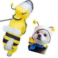 애완 동물 개 방수 비옷 점프 슈트 반사 비 코트 통기성 메쉬 고양이 야외 옷 재킷 작은 개 애완 동물 용품 201010