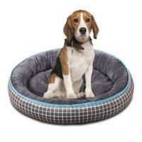 2020 hiver chaud chien chien lit super doux chien house kennel rond chat dormir pour chiens grand gros tapis banc d'animaux de compagnie canapé1