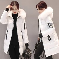 StainLizard Kış Ceket Kadınlar Sıcak Rahat Kapüşonlu Uzun Parkas Kadın Ceket Streetwear Pamuk Beyaz Kadın Ceket Kaban Dış Giyim Yeni 201027