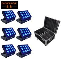 أسود سبيكة LED الاسمية 12x18 6in1 RGBWA + UV الإضاءة بطارية تعمل بالطاقة تحكم DMX 512 المرحلة الخفيفة غير نفاذ IP20 دي جي دي ILLUMINAZIONE