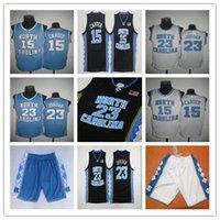 Vince Carter Unc Jersey, North Carolina # 15 Vince Carter Azul Branco Costurado NCAA College 23 Michael Basketball Jerseys, Bordado Logos