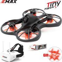 Emax Tinyhawk S Mini FPV Racing Drone с камерой 0802 Бесщеточный моторной поддержки 1 / Батарея 5. FPV Очки RC Самолет LJ201210