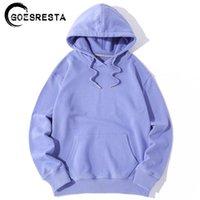 GoesResta 2020 Yeni Sonbahar Erkek Hoodies Pamuk Boy Hip Hop Harajuku Saf Kapşonlu Rahat Streetwear Uzun Kollu Hoodies Kadınlar