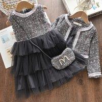 Bärleiter Mädchen Prinzessin Kleid Neue Marke Party Kleider Kinder Mädchen Kleidung Elegante Nette Mädchen Outfit Kinder Kleidung Vestido LJ200911