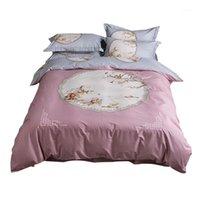 التقليدية الصينية الطلاء الفراش مجموعة الملكة الملك الحجم القطن المطبوعة حاف غطاء السرير ملاءات سادة الشرقية ديكور 1