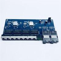 10/100 / 1000m Gigabit Ethernet-Switch Ethernet Faser Optical Media Converter Single Mode 8 RJ45 UTP und 2 SC Faser Anschlussplatte PCB1