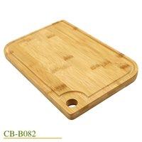 Jaswehome mutfak doğal bambu kesme tahtaları suyu oluk ahşap kesme tahtası bambu doğrama tahtası T200323
