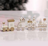 5 Renk Noel Ahşap Tren Çocuklar Hediye Mutlu Dekorasyon Home For Küçük Tren Popüler Dekor Noel Süsler 4 Knots Tren GGE1928