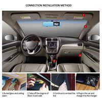 "Coche DVR DVR 4.3 ""1080p HD Retro vista espejo + Cámara de respaldo inversa Monitor de cámara Kit de estacionamiento DVR / Dash Accesories1"