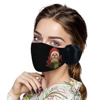 2 1 크리스마스 얼굴에 봉제 귀 보호 마스크 두꺼운 따뜻한 만화 입 커버 겨울 입 커버 Earflap 마스크
