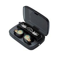 M18 TWS Fones de ouvido sem fio 9D Sem fio Stereo Bluetooth Fone de Ouvido Esportes à prova d'água Cabeçantes Ruído Cancelar Earbuds com 2000mAh