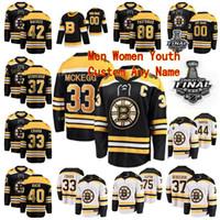 Personalizzato Boston Bruins Hockey maglie 2019 finale di Stanley Cup 15 Craig Smith 33 Greg McKegg Callum Booth Uomini Donne gioventù scherza il 2021 hanno cucito