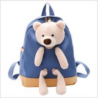 2021 Nouvelle vente chaude enfants dessin animé bear poupée sacs d'école garçons filles sacs à dos enfants sac à sacs scolaires enfants