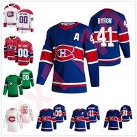 몬트리올 Canadiens 2021 리버스 레트로 하키 유니폼 31 캐리 가격 14 Nick Suzuki Guy Lafleur Brendan Gallagher Shea Weber 사용자 정의 스티치
