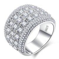 새로운 패션 지르콘 망 다이아몬드 반지 여성을위한 고품질 약혼 반지 실버 결혼 반지 쥬얼리